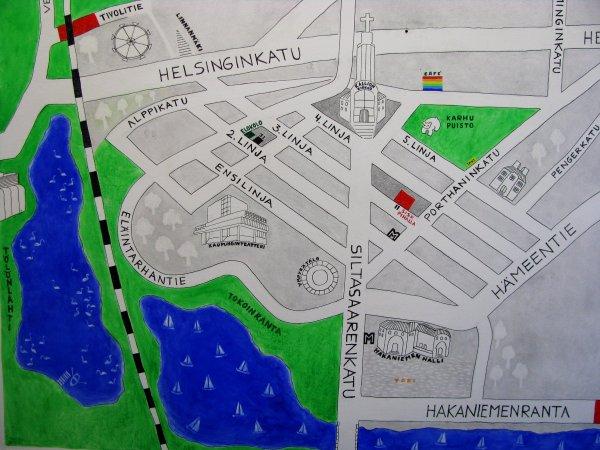 """""""MAP"""" at KALLIO KUNSTHALLE, Helsinki 2014"""